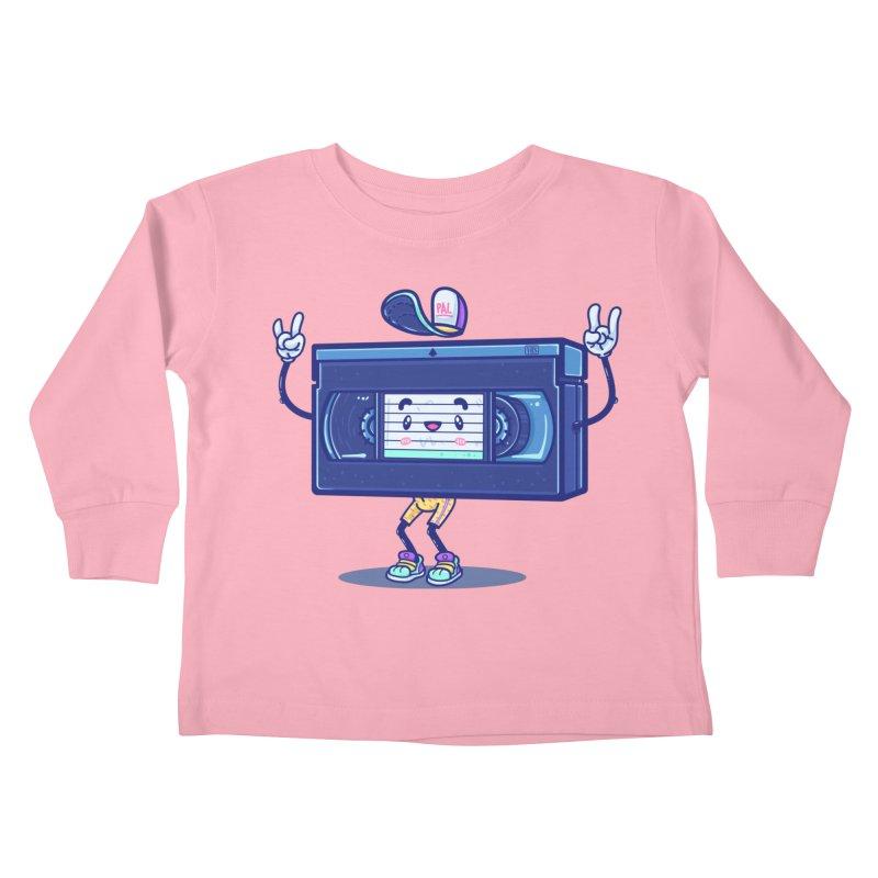 VHS PAL Kids Toddler Longsleeve T-Shirt by Bálooie's Artist Shop