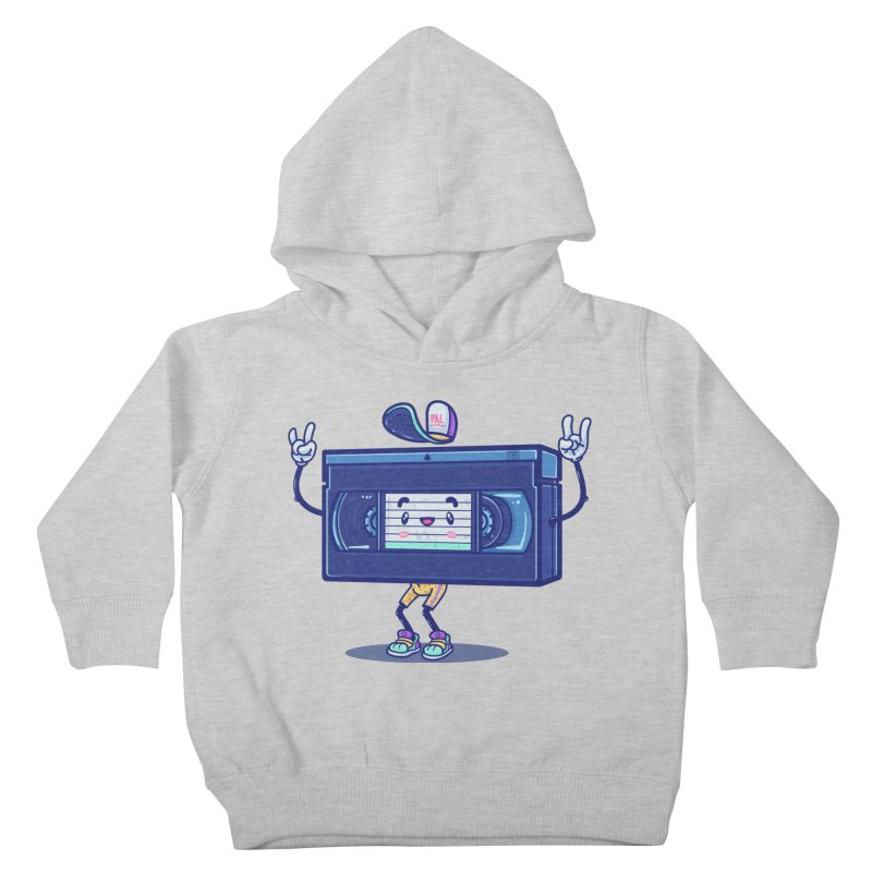 VHS PAL Kids Toddler Pullover Hoody by Bálooie's Artist Shop