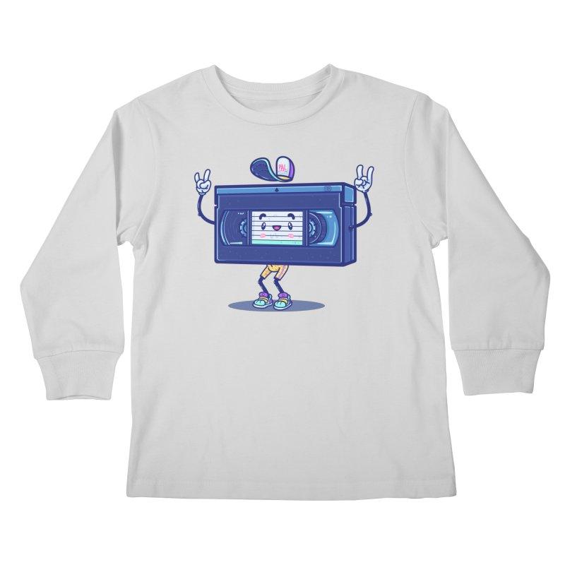 VHS PAL Kids Longsleeve T-Shirt by Bálooie's Artist Shop