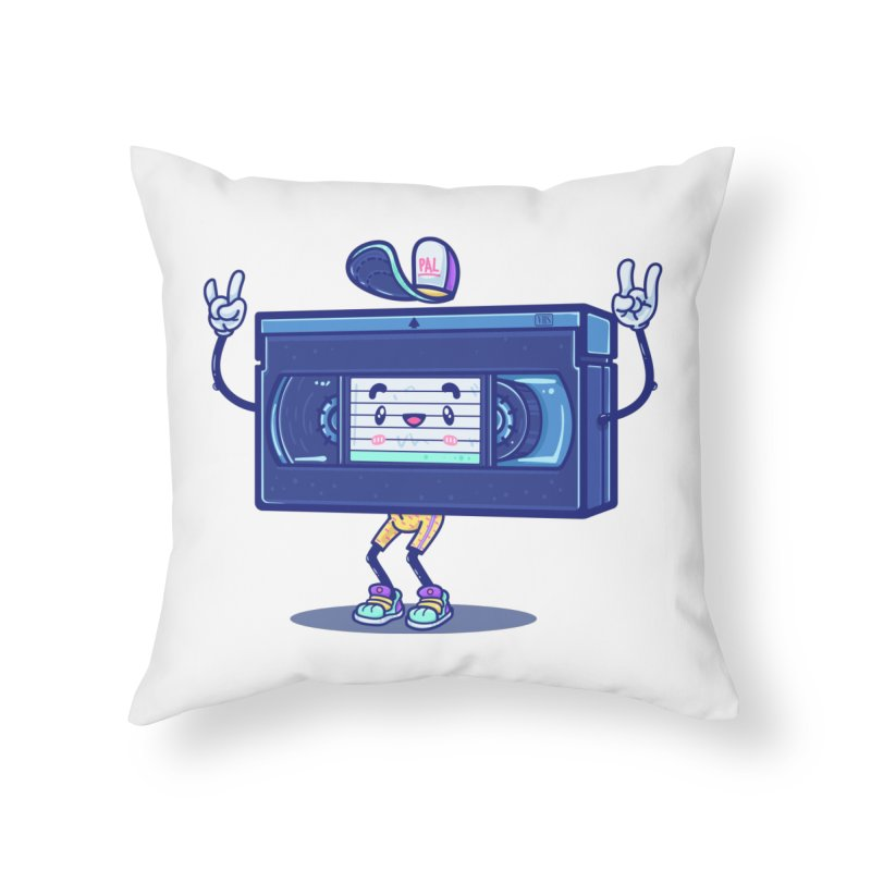 VHS PAL Home Throw Pillow by Bálooie's Artist Shop