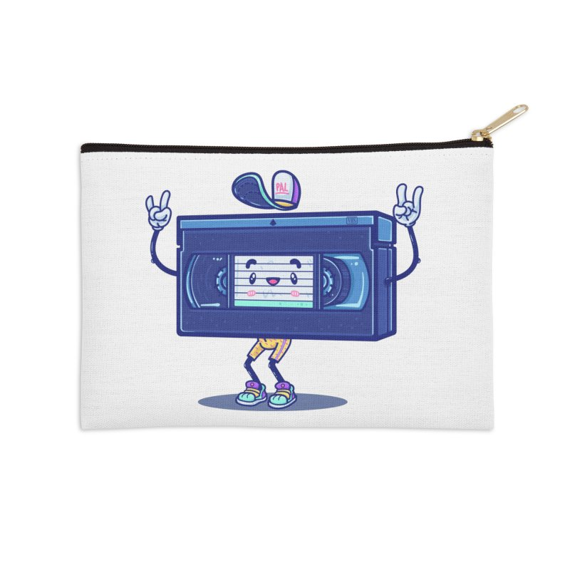 VHS PAL Accessories Zip Pouch by Bálooie's Artist Shop