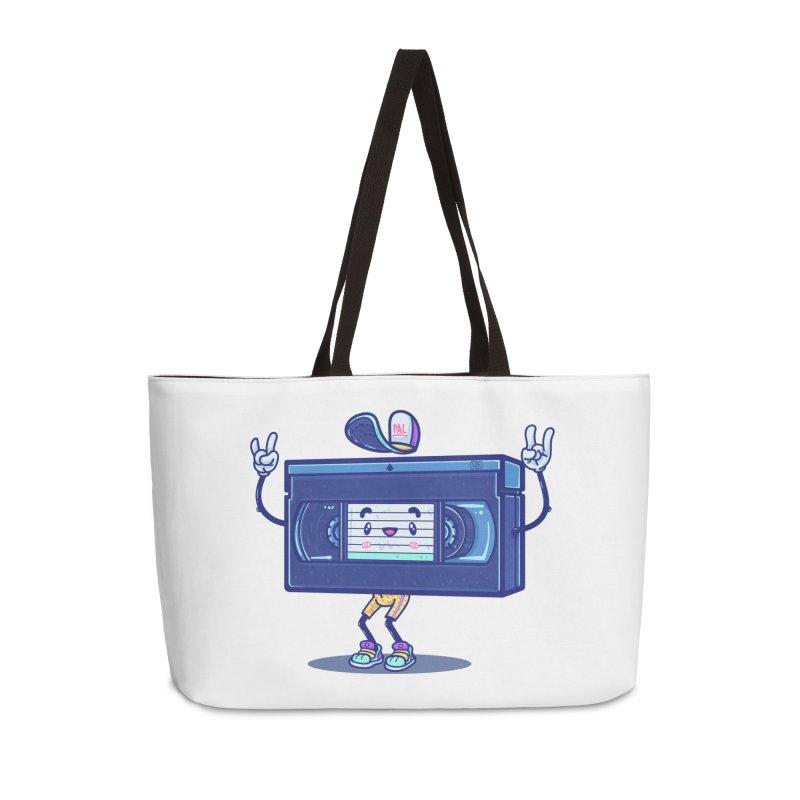 VHS PAL Accessories Weekender Bag Bag by Bálooie's Artist Shop