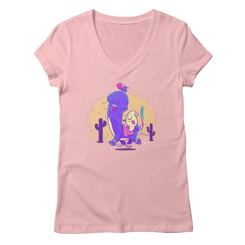 Just lama, no drama! Women's V-Neck by Bálooie's Artist Shop
