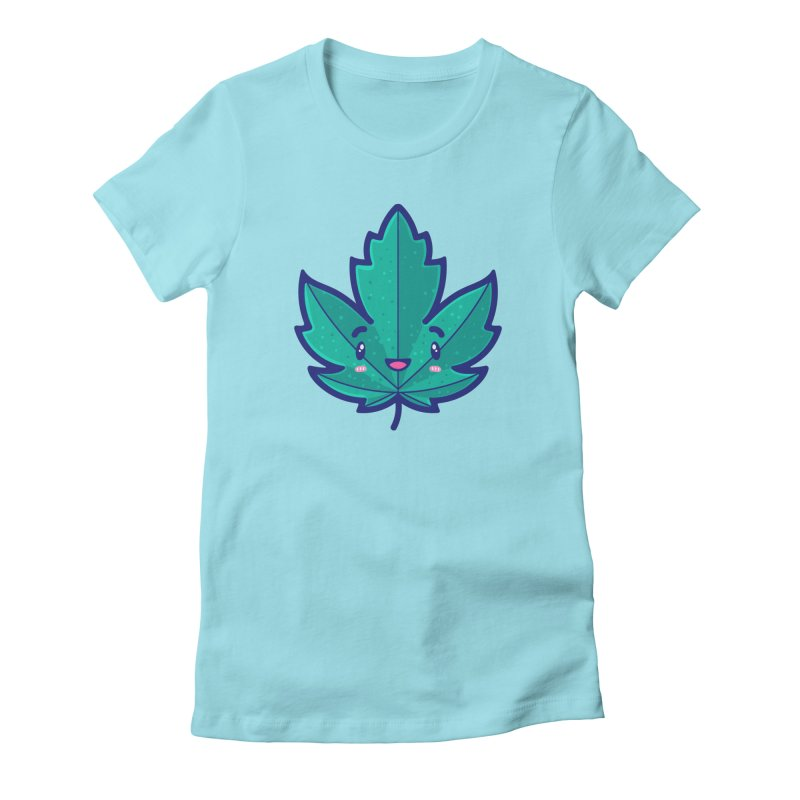 Skateboarding Is Not A Crime – Maple Leaf Women's Fitted T-Shirt by Bálooie's Artist Shop