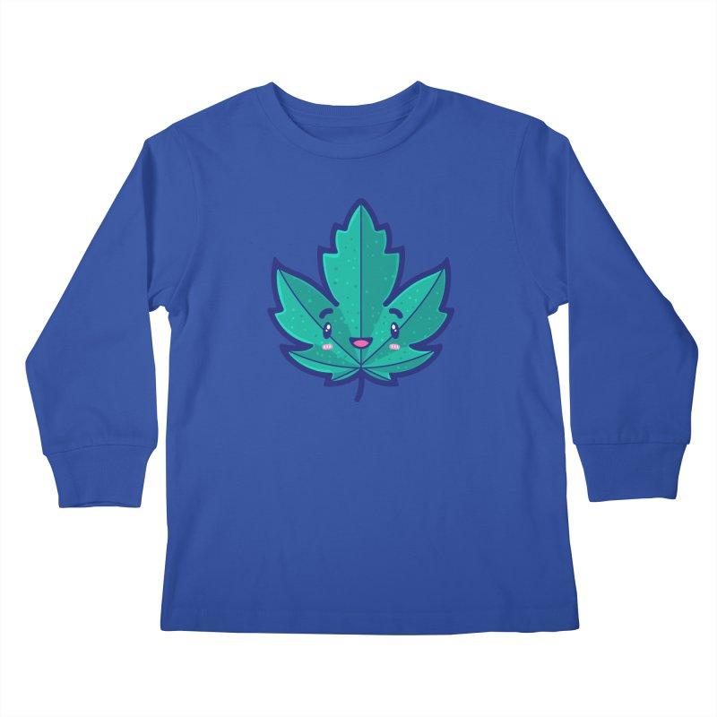 Skateboarding Is Not A Crime – Maple Leaf Kids Longsleeve T-Shirt by Bálooie's Artist Shop