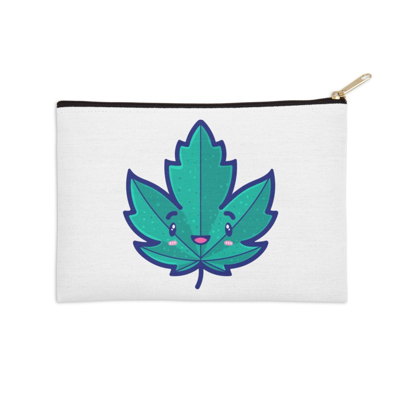Skateboarding Is Not A Crime – Maple Leaf Accessories Zip Pouch by Bálooie's Artist Shop