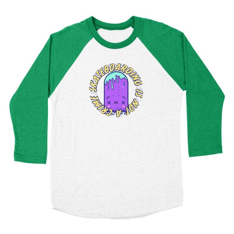 Skateboarding Is Not A Crime – Destruction Women's Longsleeve T-Shirt by Bálooie's Artist Shop