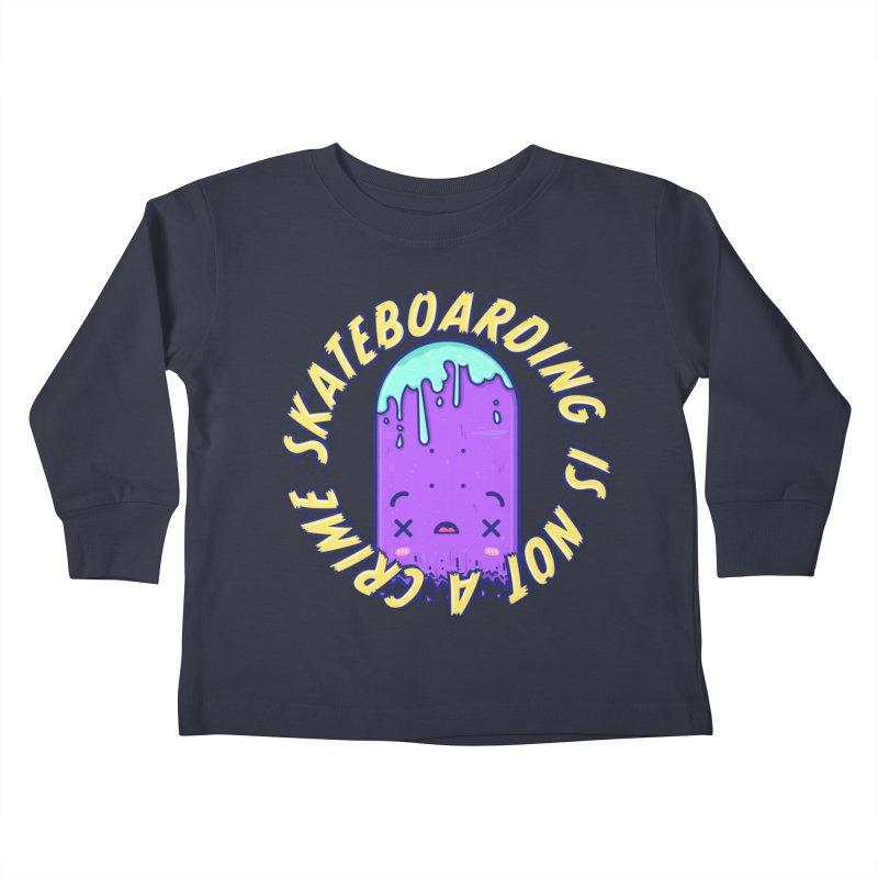 Skateboarding Is Not A Crime – Destruction Kids Toddler Longsleeve T-Shirt by Bálooie's Artist Shop