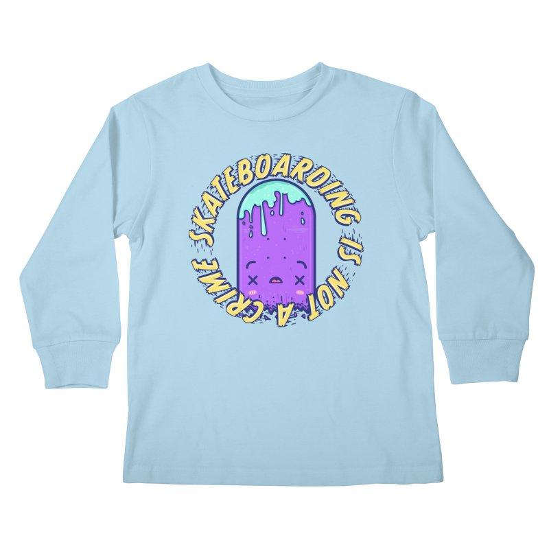 Skateboarding Is Not A Crime – Destruction Kids Longsleeve T-Shirt by Bálooie's Artist Shop