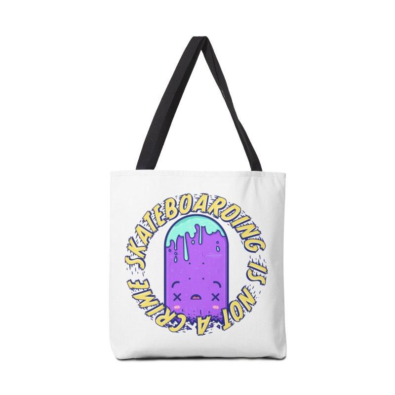 Skateboarding Is Not A Crime – Destruction Accessories Tote Bag Bag by Bálooie's Artist Shop