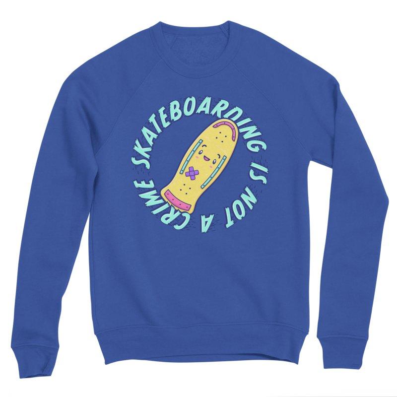 Skateboarding Is Not A Crime – Old School Men's Sweatshirt by Bálooie's Artist Shop