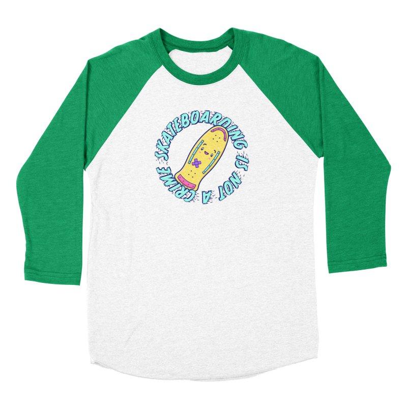 Skateboarding Is Not A Crime – Old School Men's Longsleeve T-Shirt by Bálooie's Artist Shop