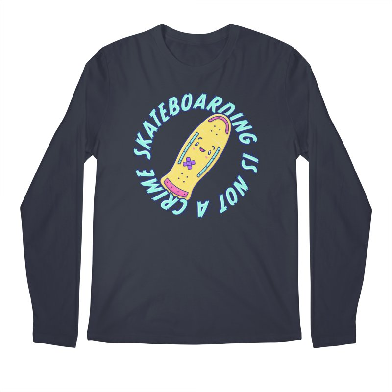 Skateboarding Is Not A Crime – Old School Men's Longsleeve T-Shirt by Bálooie's Artist Shop