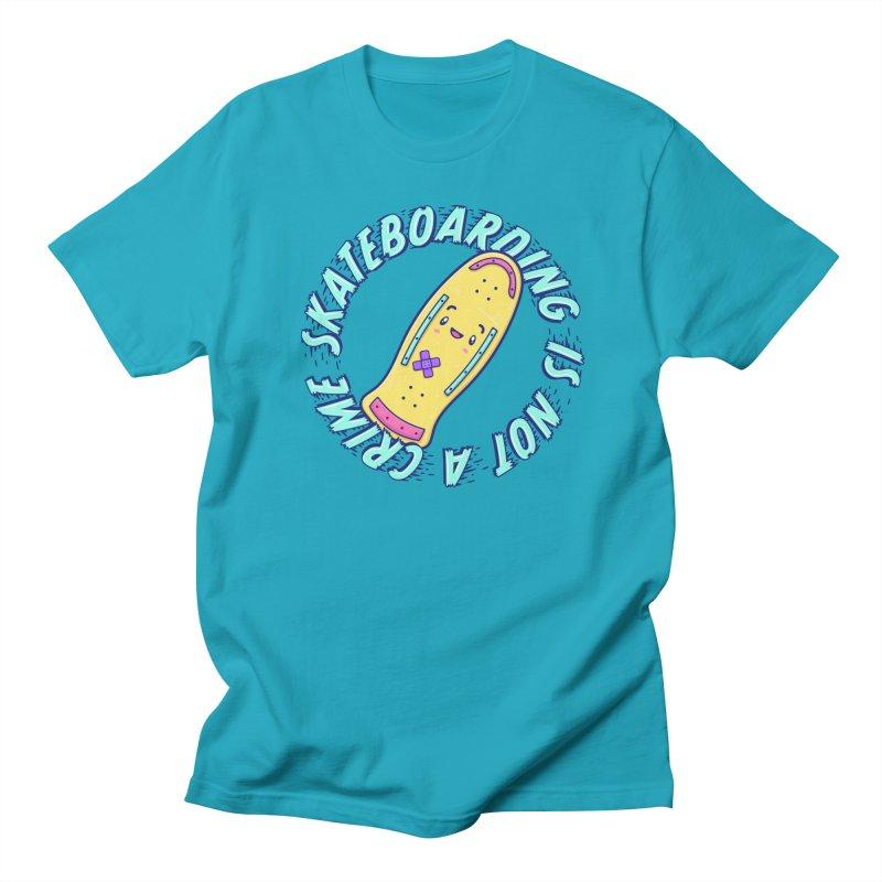 Skateboarding Is Not A Crime – Old School Men's T-Shirt by Bálooie's Artist Shop