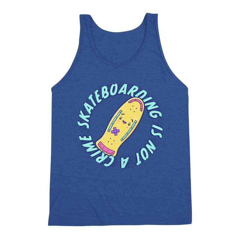 Skateboarding Is Not A Crime – Old School Men's Tank by Bálooie's Artist Shop