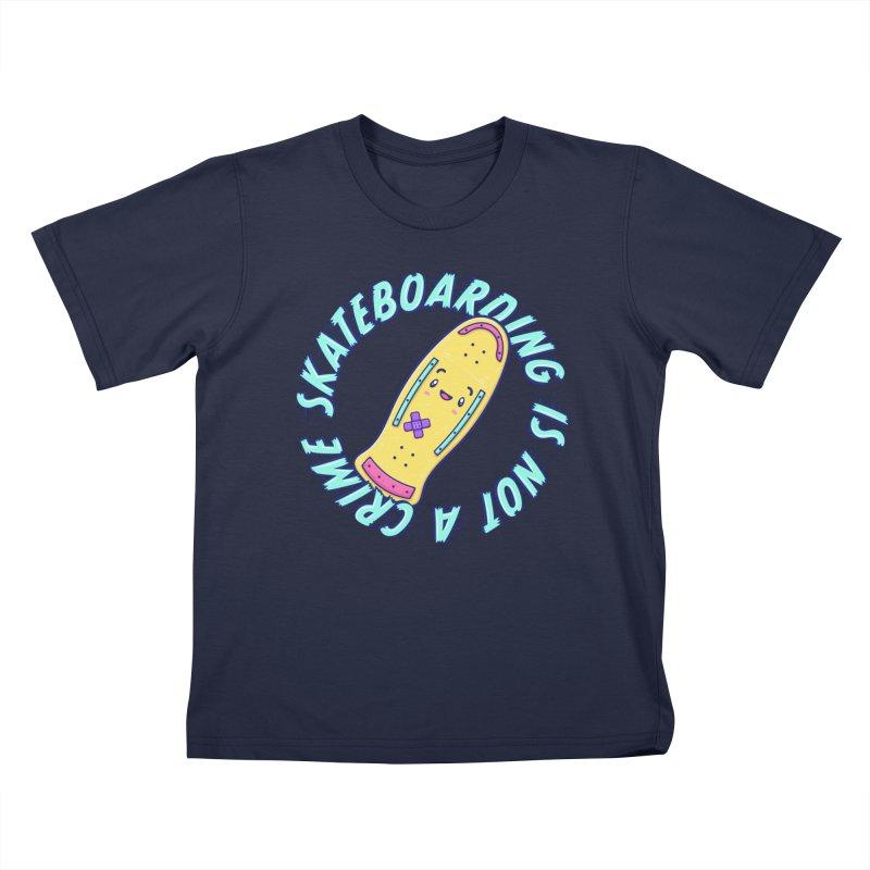 Skateboarding Is Not A Crime – Old School Kids T-Shirt by Bálooie's Artist Shop
