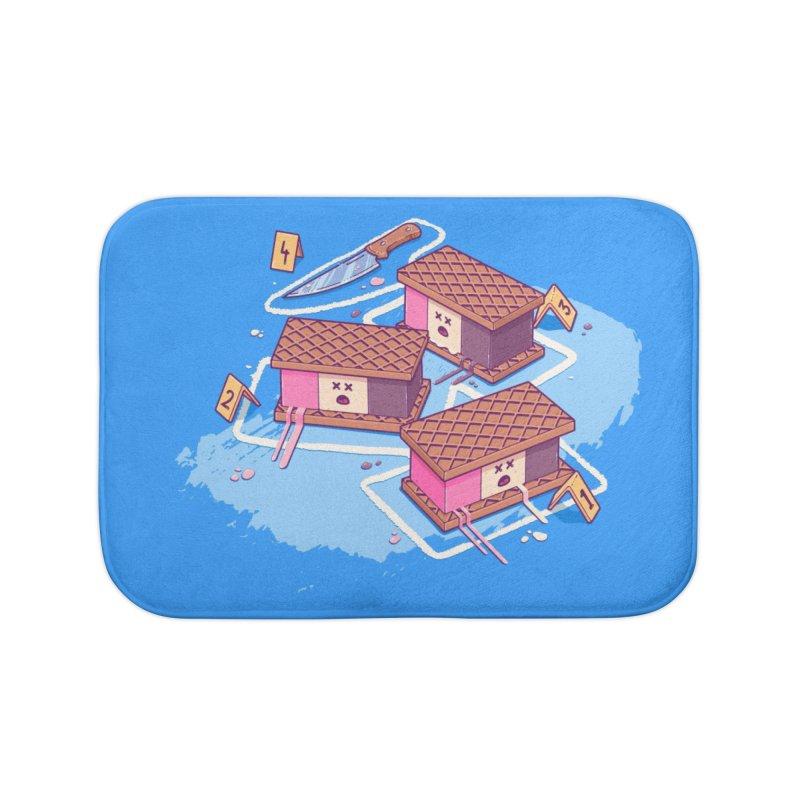 Crime Scene Ice Home Bath Mat by Bálooie's Artist Shop