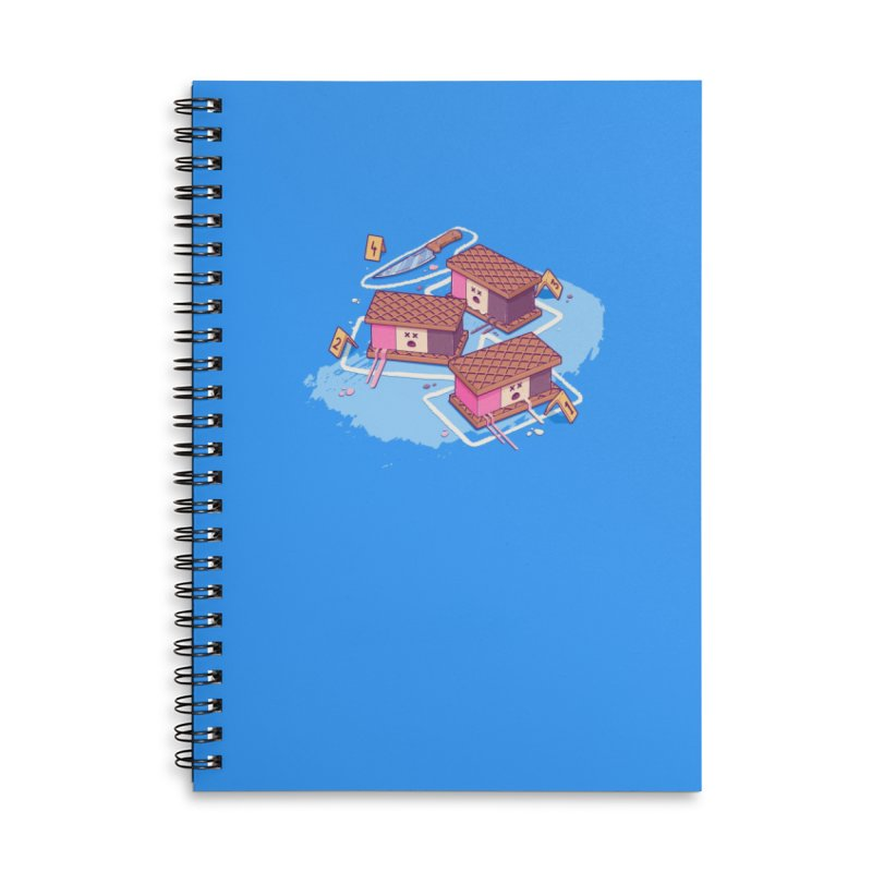 Crime Scene Ice Accessories Notebook by Bálooie's Artist Shop