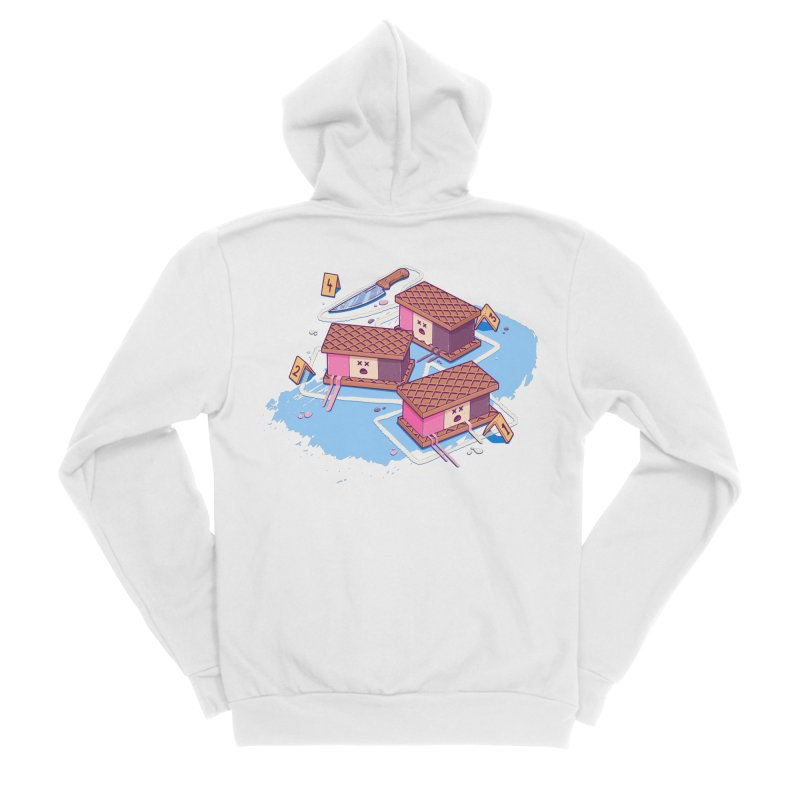 Crime Scene Ice Men's Zip-Up Hoody by Bálooie's Artist Shop