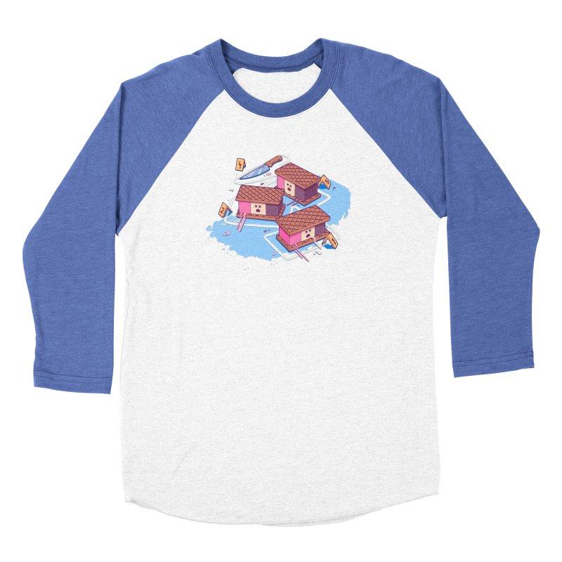 Crime Scene Ice Women's Baseball Triblend Longsleeve T-Shirt by Bálooie's Artist Shop