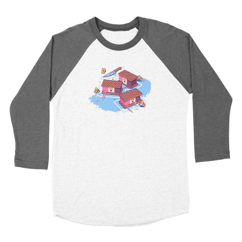 Crime Scene Ice Men's Baseball Triblend Longsleeve T-Shirt by Bálooie's Artist Shop