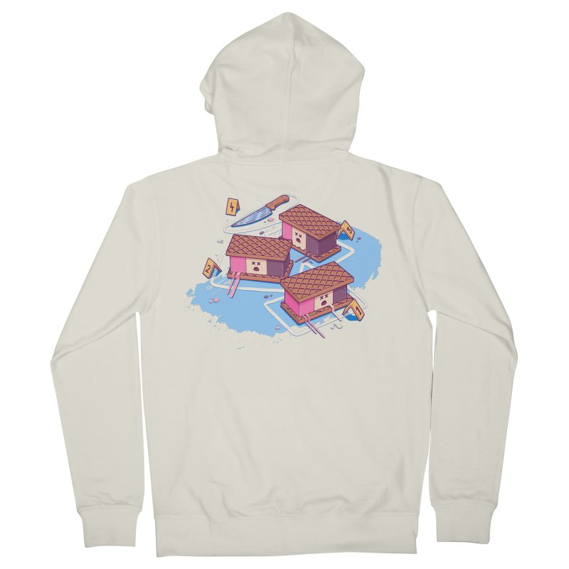 Crime Scene Ice Women's French Terry Zip-Up Hoody by Bálooie's Artist Shop