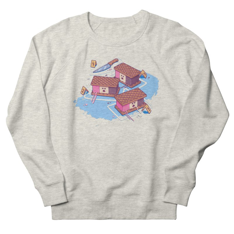 Crime Scene Ice Men's French Terry Sweatshirt by Bálooie's Artist Shop