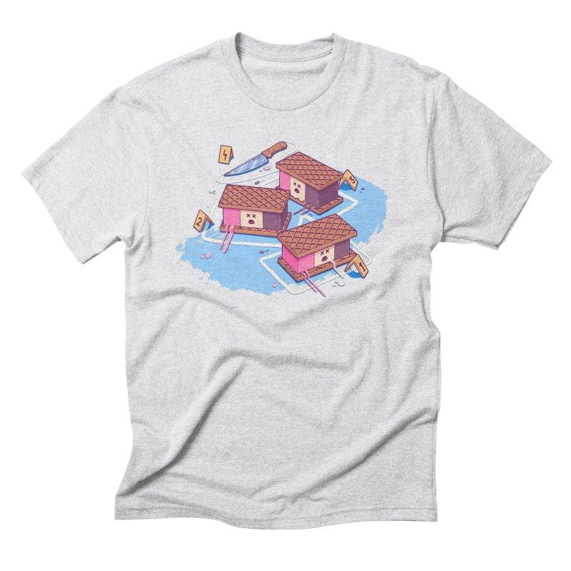 Crime Scene Ice Men's Triblend T-Shirt by Bálooie's Artist Shop
