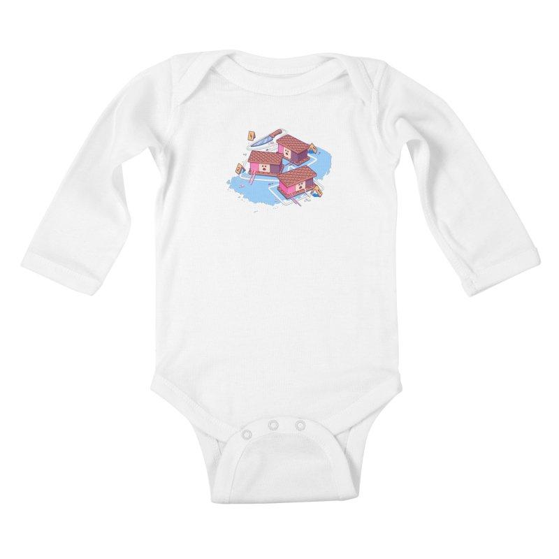 Crime Scene Ice Kids Baby Longsleeve Bodysuit by Bálooie's Artist Shop