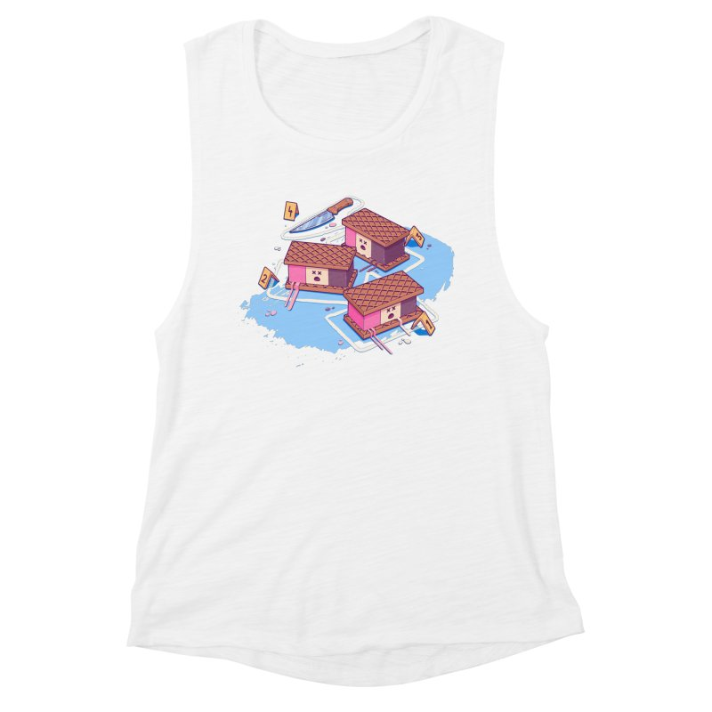 Crime Scene Ice Women's Muscle Tank by Bálooie's Artist Shop