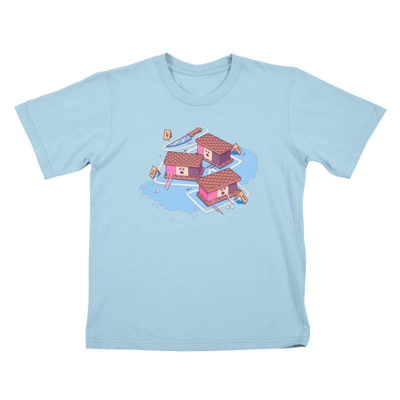 Crime Scene Ice Kids T-Shirt by Bálooie's Artist Shop