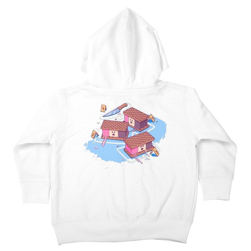 Crime Scene Ice Kids Toddler Zip-Up Hoody by Bálooie's Artist Shop