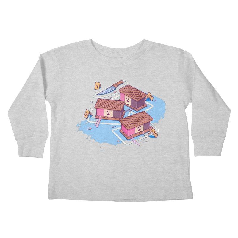 Crime Scene Ice Kids Toddler Longsleeve T-Shirt by Bálooie's Artist Shop
