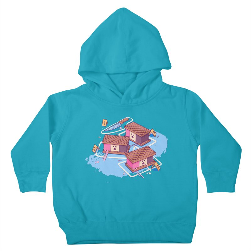 Crime Scene Ice Kids Toddler Pullover Hoody by Bálooie's Artist Shop