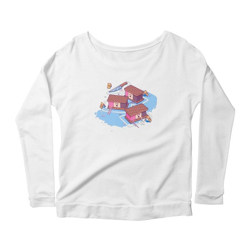 Crime Scene Ice Women's Scoop Neck Longsleeve T-Shirt by Bálooie's Artist Shop