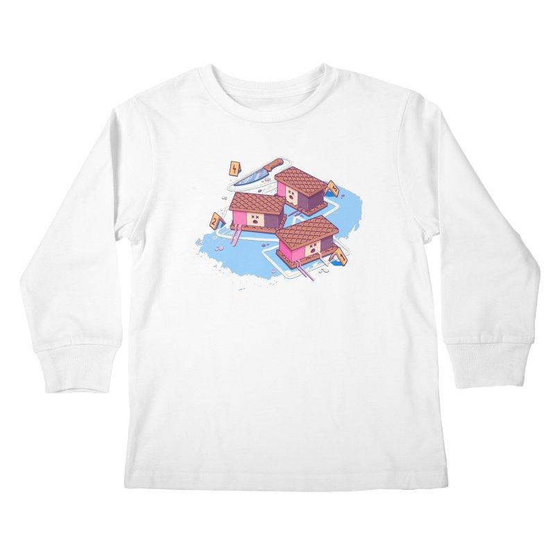 Crime Scene Ice Kids Longsleeve T-Shirt by Bálooie's Artist Shop