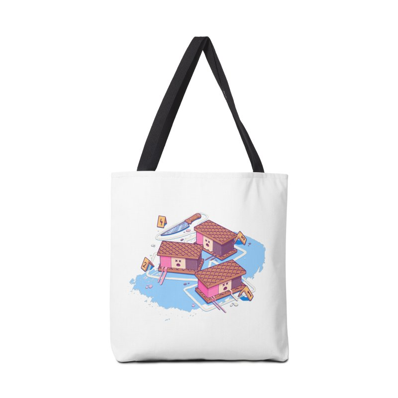 Crime Scene Ice Accessories Tote Bag Bag by Bálooie's Artist Shop