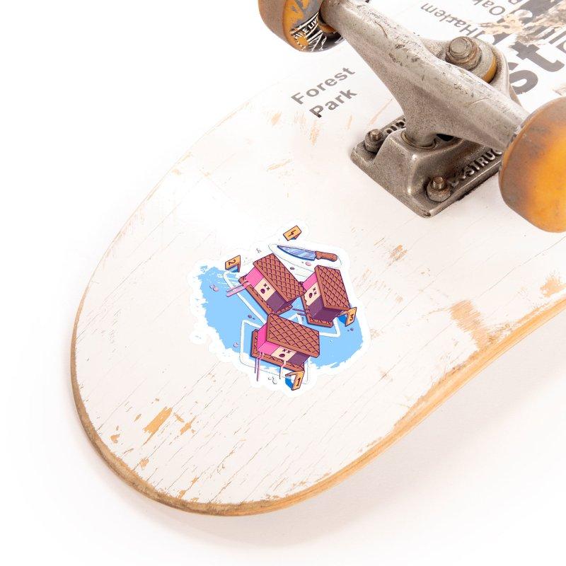 Crime Scene Ice Accessories Sticker by Bálooie's Artist Shop