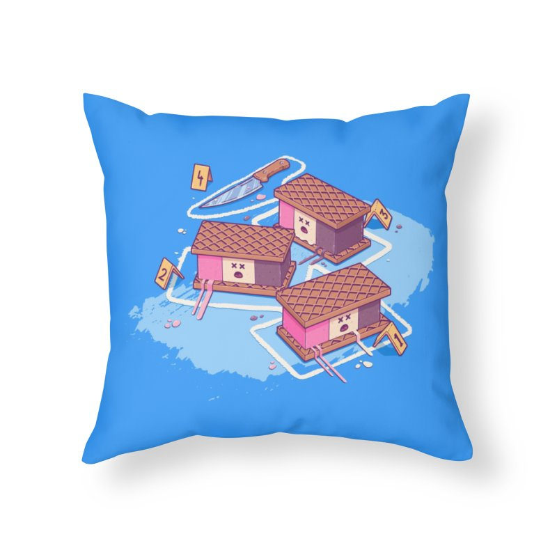 Crime Scene Ice Home Throw Pillow by Bálooie's Artist Shop