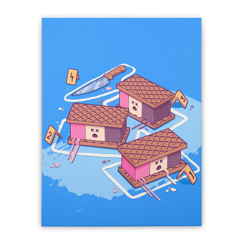 Crime Scene Ice Home Stretched Canvas by Bálooie's Artist Shop