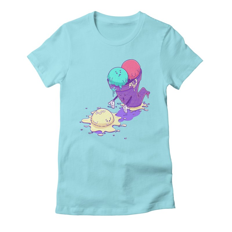 Oh No! Women's Fitted T-Shirt by Bálooie's Artist Shop