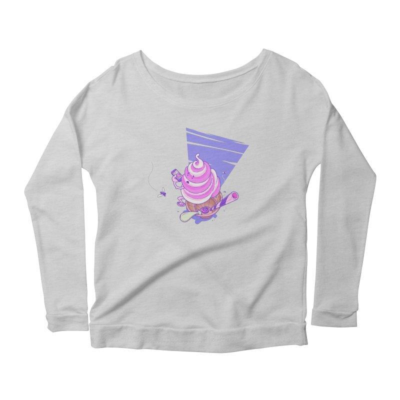 Soft Serve Food Porn Women's Scoop Neck Longsleeve T-Shirt by Bálooie's Artist Shop