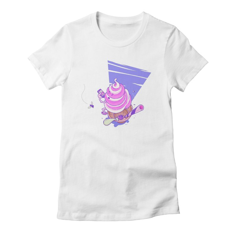Soft Serve Food Porn Women's Fitted T-Shirt by Bálooie's Artist Shop
