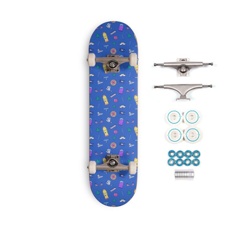 Skateboarding Is Not A Crime – Dark Blue Pattern Accessories Skateboard by Bálooie's Artist Shop