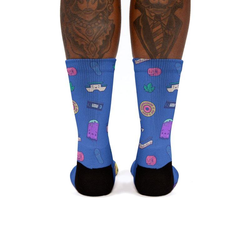 Skateboarding Is Not A Crime – Dark Blue Pattern Women's Socks by Bálooie's Artist Shop