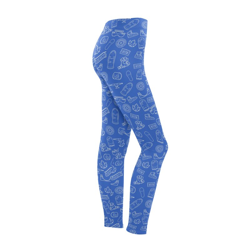 Skateboarding Is Not A Crime – Blue Pattern Women's Bottoms by Bálooie's Artist Shop