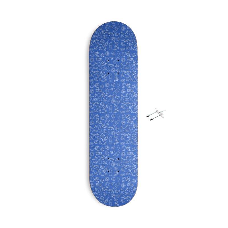 Skateboarding Is Not A Crime – Blue Pattern Accessories Skateboard by Bálooie's Artist Shop
