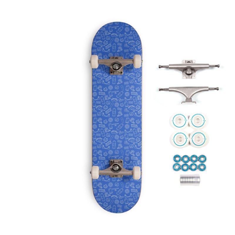 Skateboarding Is Not A Crime – Blue Pattern Accessories Skateboard by Bálooie's Artist Shop