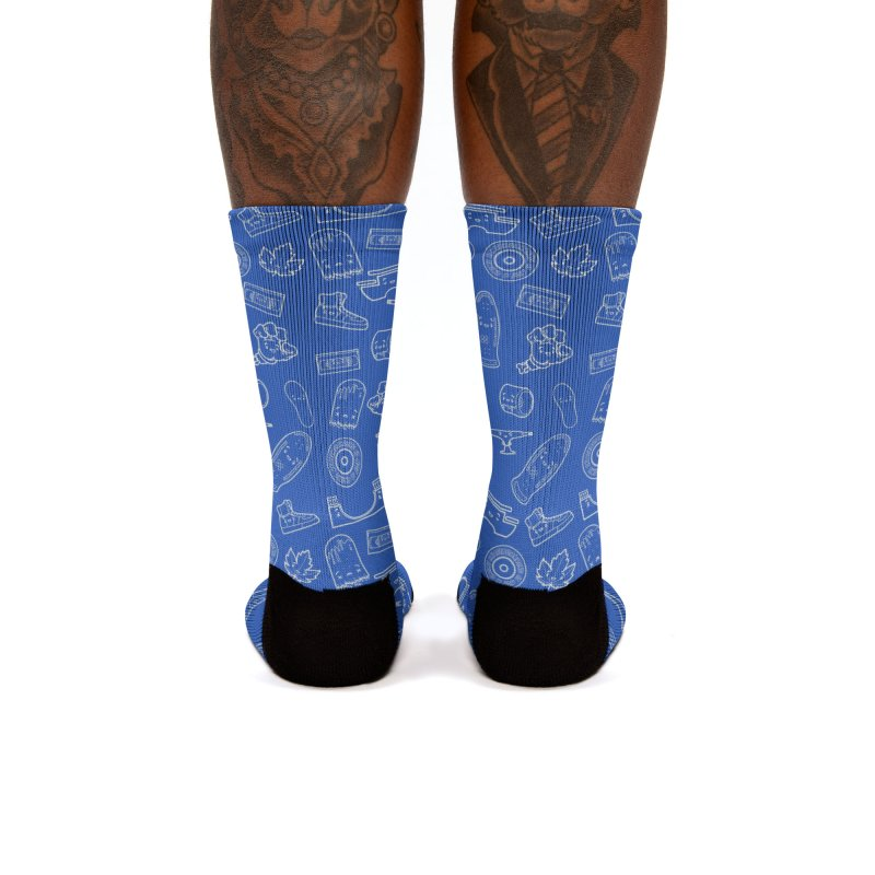 Skateboarding Is Not A Crime – Blue Pattern Women's Socks by Bálooie's Artist Shop