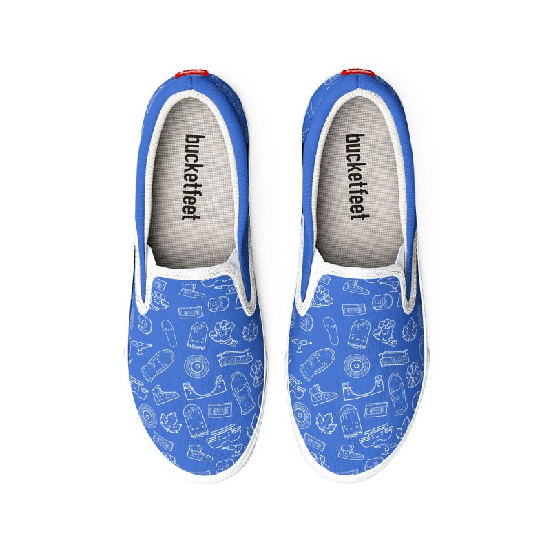 Skateboarding Is Not A Crime – Blue Pattern Men's Shoes by Bálooie's Artist Shop